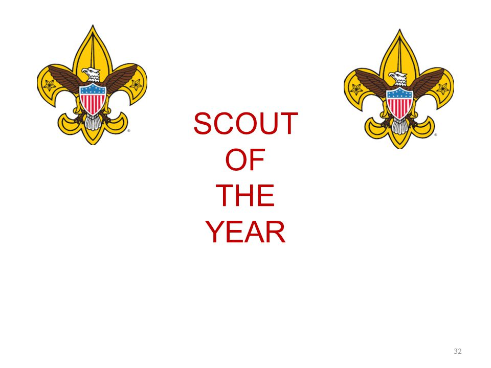 SCOUT OF THE YEAR 32