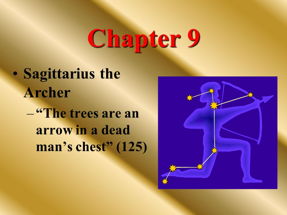 Chapter 9 Sagittarius the Archer – The trees are an arrow in a dead man's chest (125)
