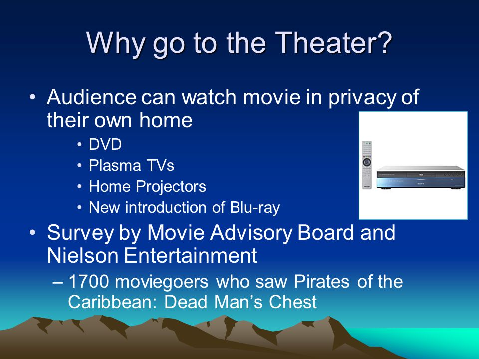 Why go to the Theater.