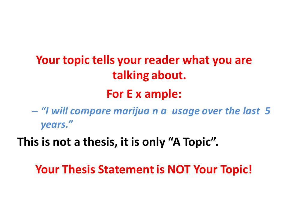 A Strong Thesis Should Not Be Vague.