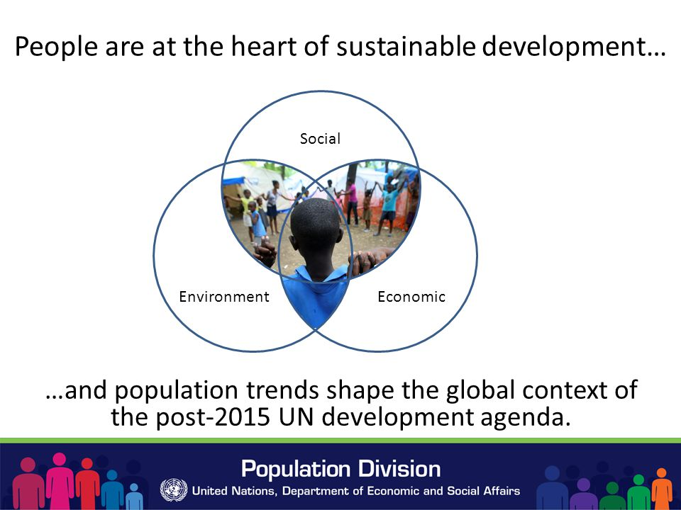 People are at the heart of sustainable development… …and population trends shape the global context of the post-2015 UN development agenda.