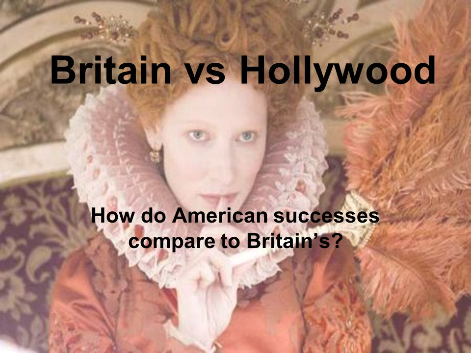 Britain vs Hollywood How do American successes compare to Britain's