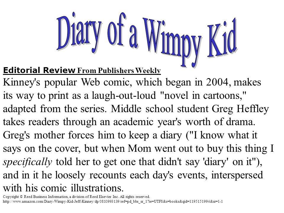 Editorial Review From Publishers Weekly Kinney's popular Web comic, which began in 2004, makes its way to print as a laugh-out-loud