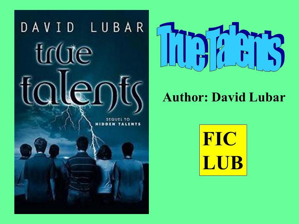 Author: David Lubar FIC LUB