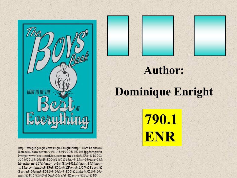 http://images.google.com/imgres imgurl=http://www.booksami llion.com/bam/covers/0/06/146/910/0061469106.jpg&imgrefur l=http://www.booksamillion.com/ncom/books%3Fid%3D3902 357462218%26pid%3D0061469106&h=648&w=560&sz=53& hl=en&start=127&tbnid=_cyIe4f3IavS6M:&tbnh=137&tbnw= 118&prev=/images%3Fq%3Dthe%2Bboys%2527%2Bbook%2 Bcover%26start%3D120%26gbv%3D2%26ndsp%3D20%26sv num%3D10%26hl%3Den%26safe%3Dactive%26sa%3DN Author: Dominique Enright 790.1 ENR
