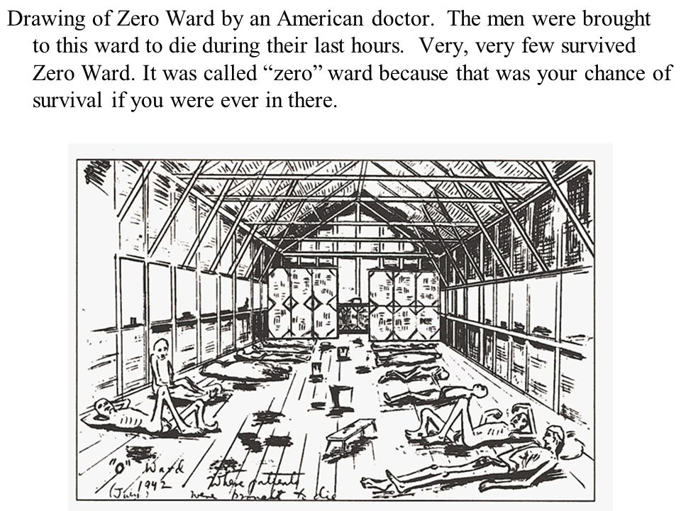 Drawing of Zero Ward by an American doctor.