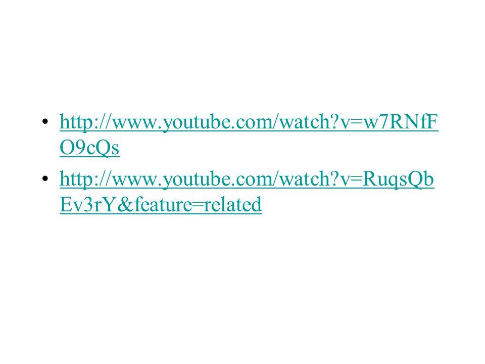 http://www.youtube.com/watch?v=w7RNfF O9cQshttp://www.youtube.com/watch?v=w7RNfF O9cQs http://www.youtube.com/watch?v=RuqsQb Ev3rY&feature=relatedhttp