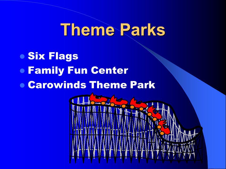 Theme Parks Six Flags Family Fun Center Carowinds Theme Park
