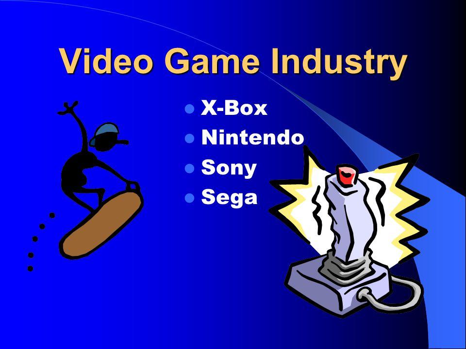 Video Game Industry X-Box Nintendo Sony Sega