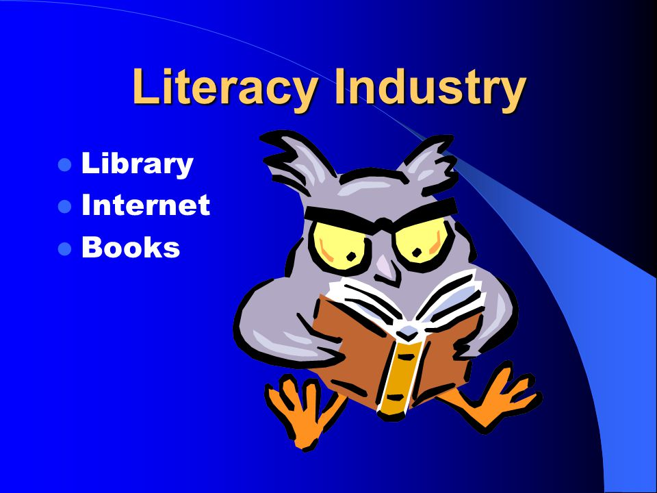Literacy Industry Library Internet Books