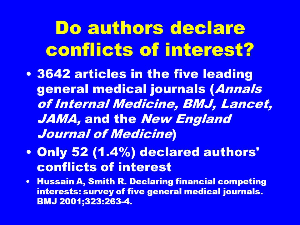 Do authors declare conflicts of interest.
