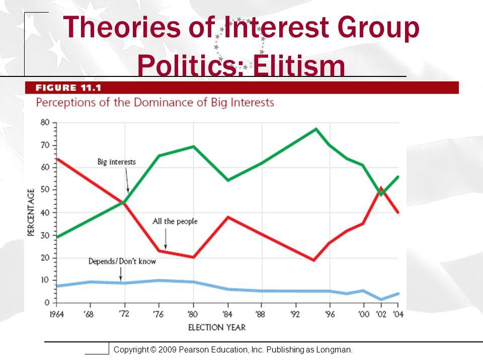 Copyright © 2009 Pearson Education, Inc. Publishing as Longman. Theories of Interest Group Politics: Elitism