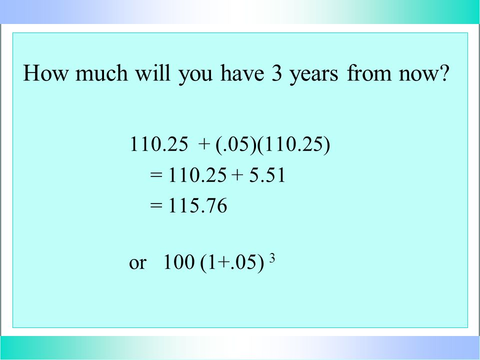 How much will you have 3 years from now.