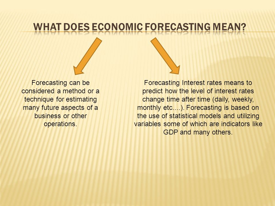 Forecasting can be considered a method or a technique for estimating many future aspects of a business or other operations.