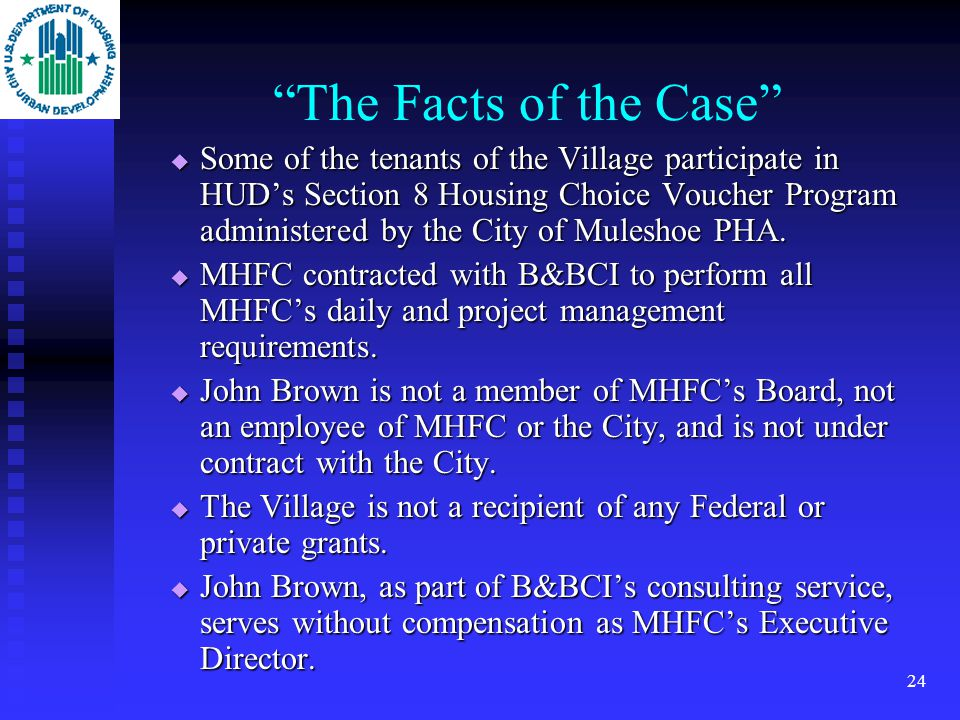 23 The Final Exam Question Letter from consultant asking whether contractual arrangement among the Muleshoe Housing Finance Corp (MHFC), Brown & Brown Consultants, Inc.
