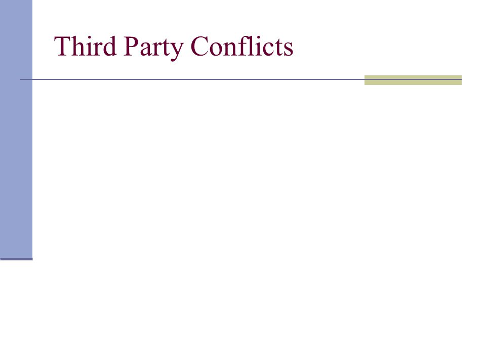 Third Party Conflicts