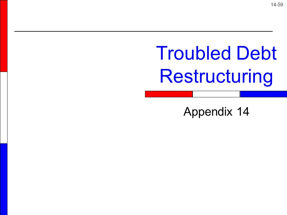 14-59 Appendix 14 Troubled Debt Restructuring