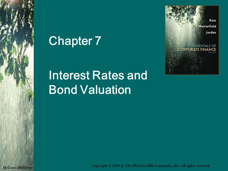 The Bond Indenture Contract between the company and the bondholders that includes –The basic terms of the bonds –The total amount of bonds issued –A description of property used as security, if applicable –Sinking fund provisions –Call provisions –Details of protective covenants 7-22