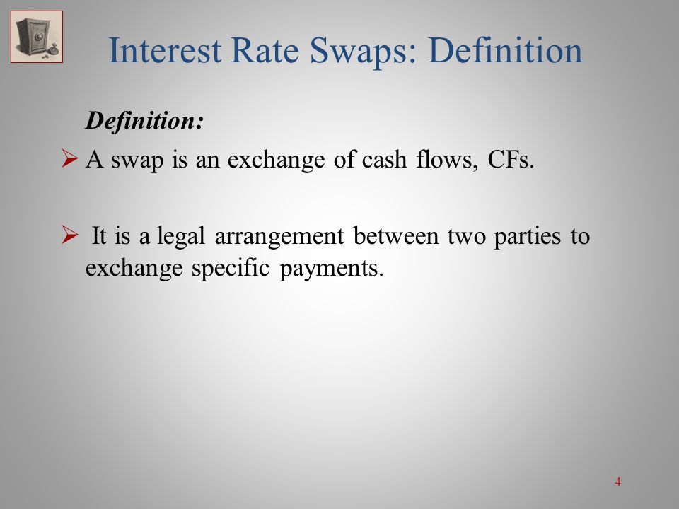 115 Swap Applications—Changing a Fixed-Income Fund's Interest Rate Exposure  If they take a floating-rate position and rates were to decrease as expected, then not only would the value of the company's bond portfolio increase but the company would also profit from the swap.