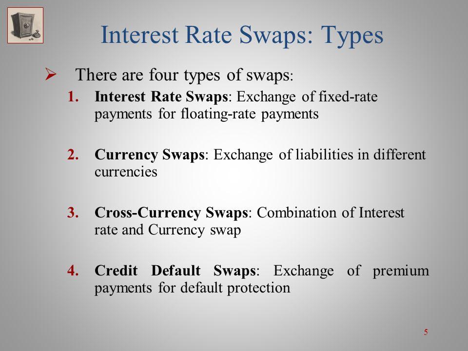 16 Interest Rate Swaps' Fundamental Use  One of the important uses of swaps is in creating a synthetic fixed- or floating-rate liability or asset that yields a better rate than a conventional or direct one:  Synthetic fixed-rate loans and investments  Synthetic floating-rate loans and investments