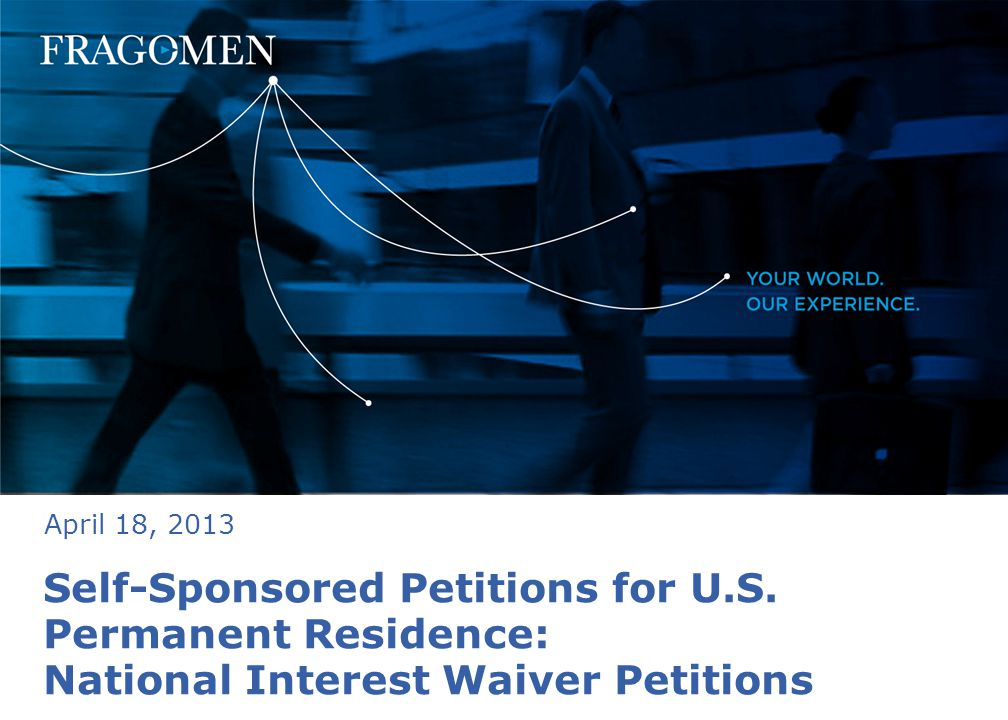 Self-Sponsored Petitions for U.S.