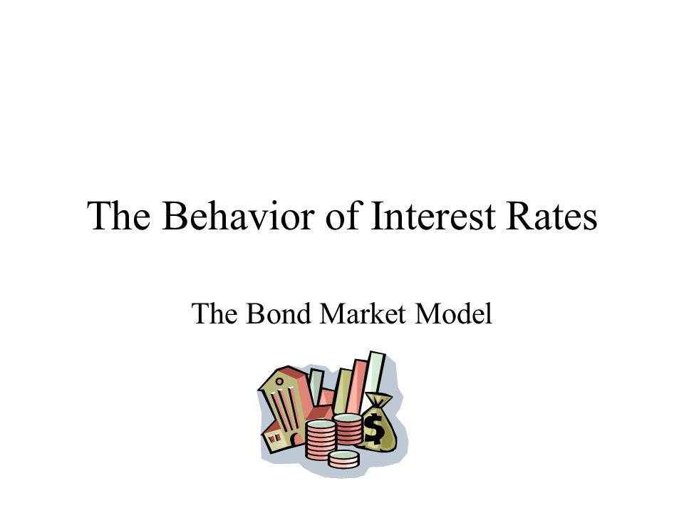 The Behavior of Interest Rates The Bond Market Model