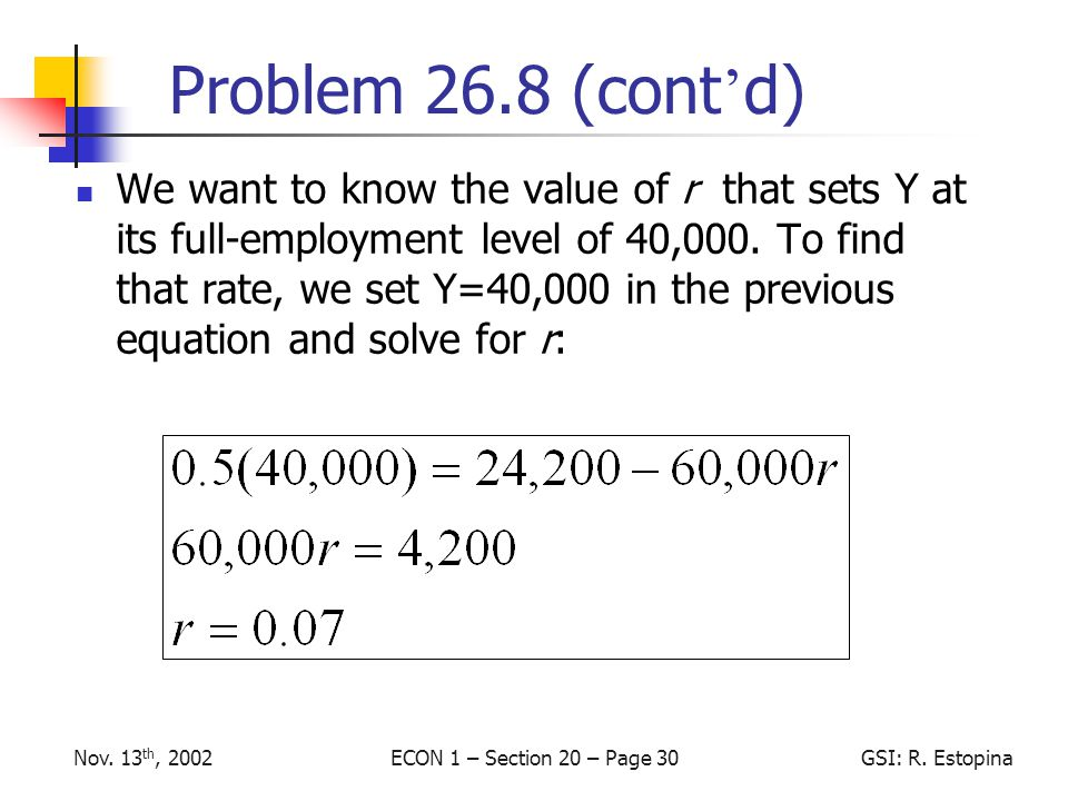 ECON 1 – Section 20 – Page 30GSI: R. EstopinaNov.