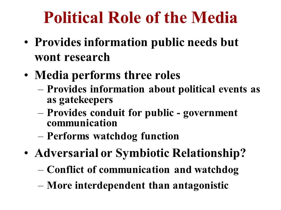 Political Communication: The Media
