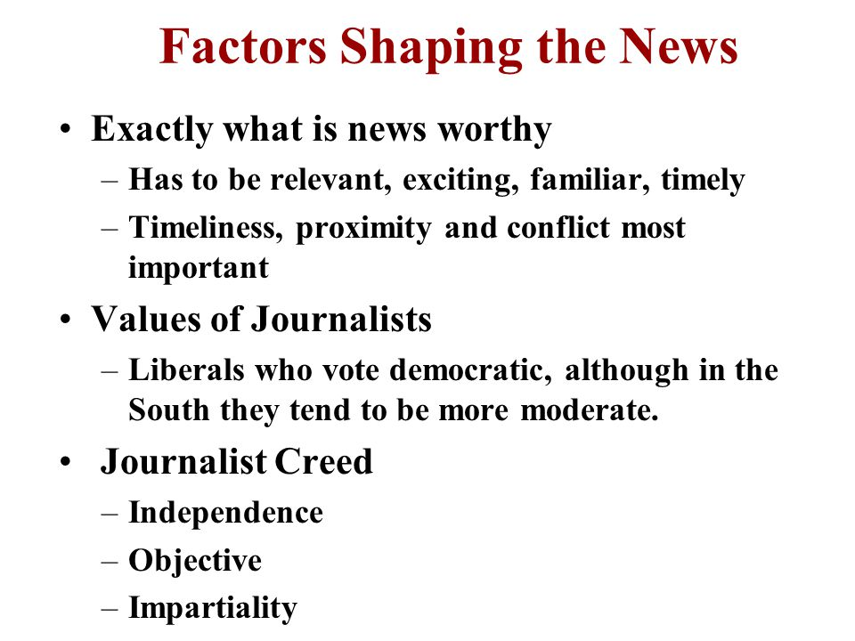 Political Role of the Media Provides information public needs but wont research Media performs three roles –Provides information about political events as as gatekeepers –Provides conduit for public - government communication –Performs watchdog function Adversarial or Symbiotic Relationship.