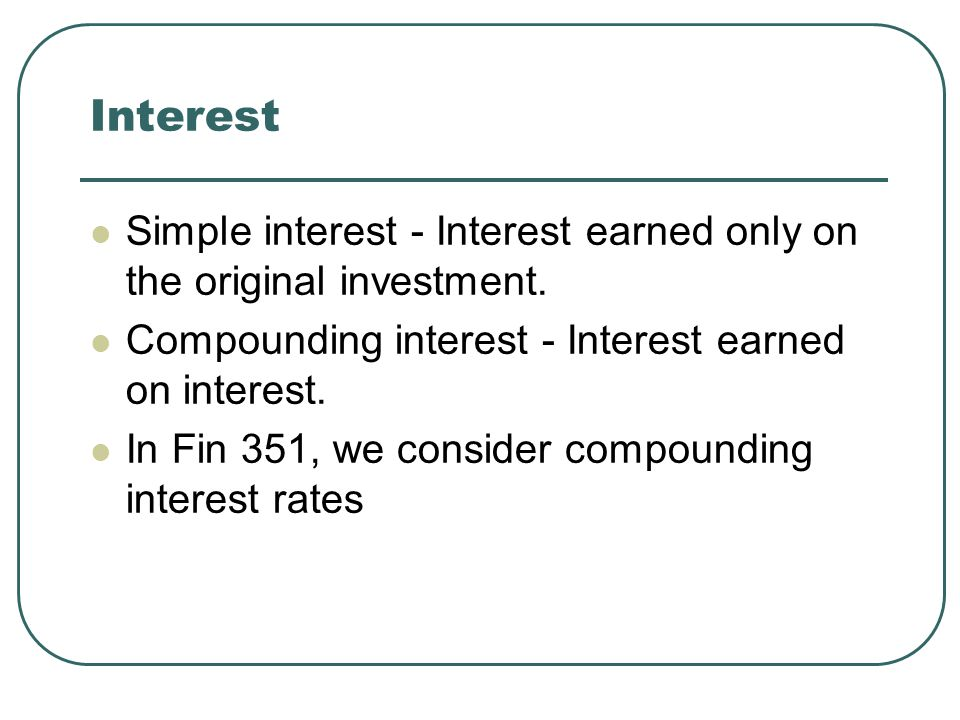 Nominal and real interest rates Nominal interest rate What is it.