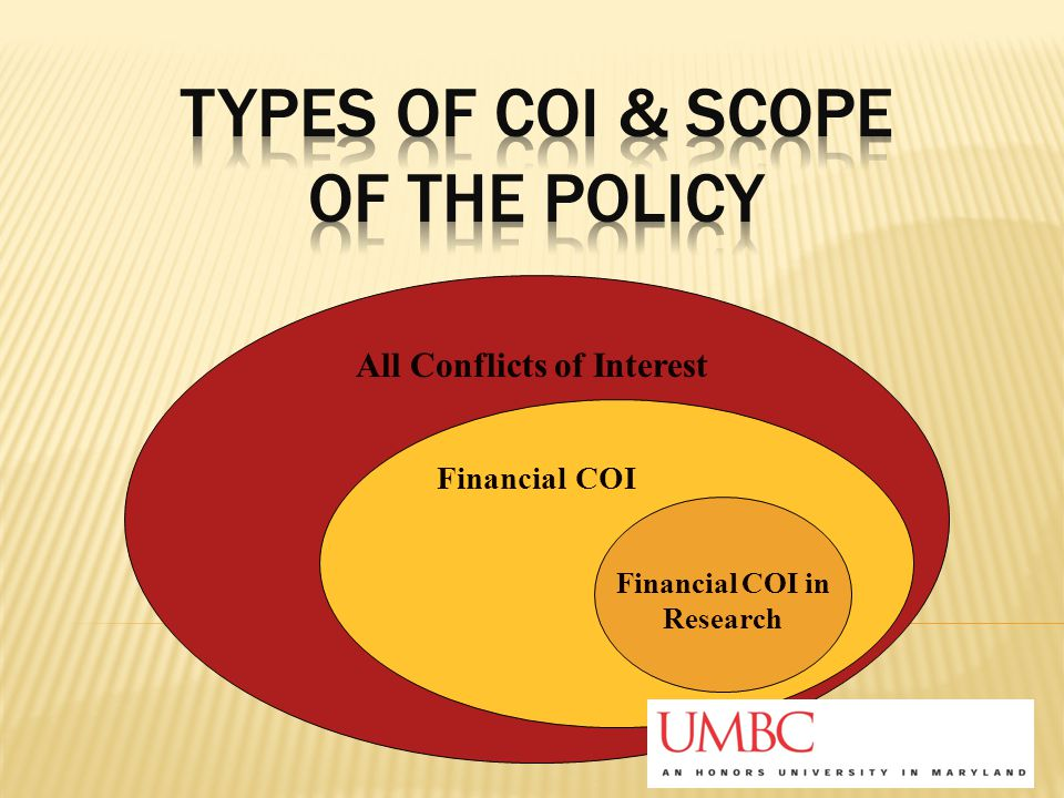 All Conflicts of Interest Financial COI in Research Financial COI