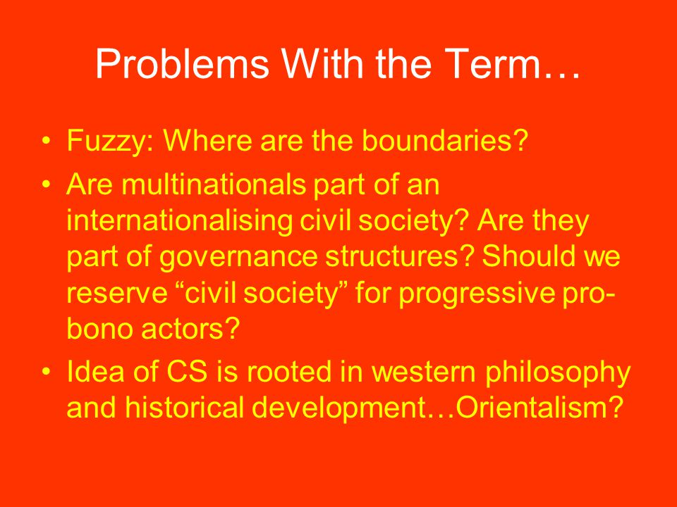 Problems With the Term… Fuzzy: Where are the boundaries.