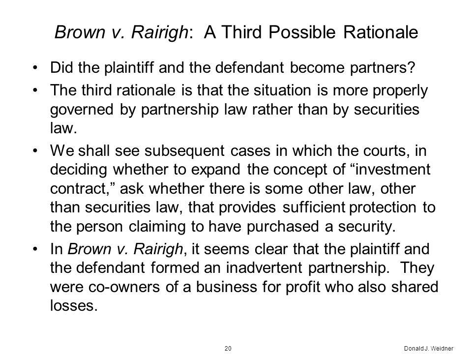 Donald J. Weidner20 Brown v.