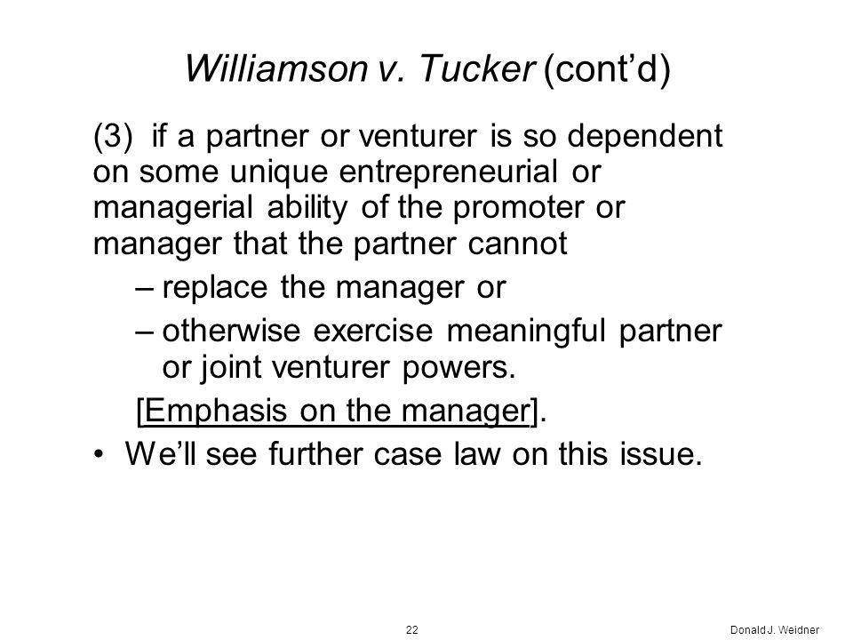 Donald J. Weidner22 Williamson v.