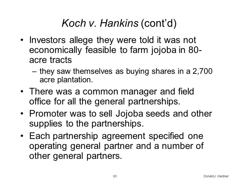 Donald J. Weidner63 Koch v.