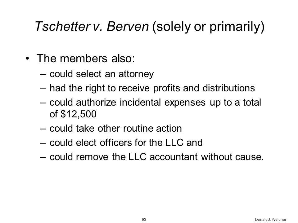 Donald J. Weidner93 Tschetter v.