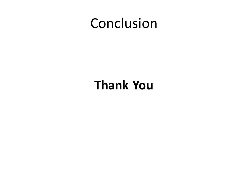 Conclusion Thank You