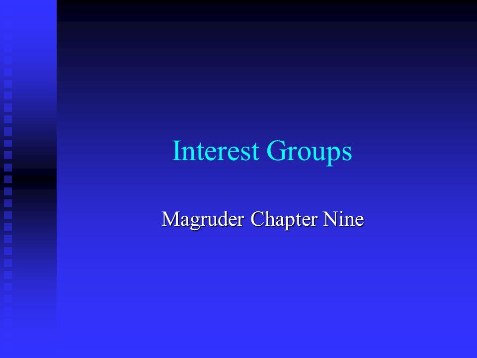Interest Groups Magruder Chapter Nine