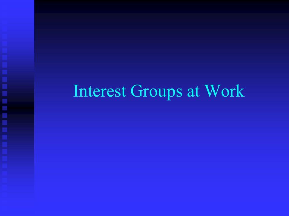 Interest Groups at Work