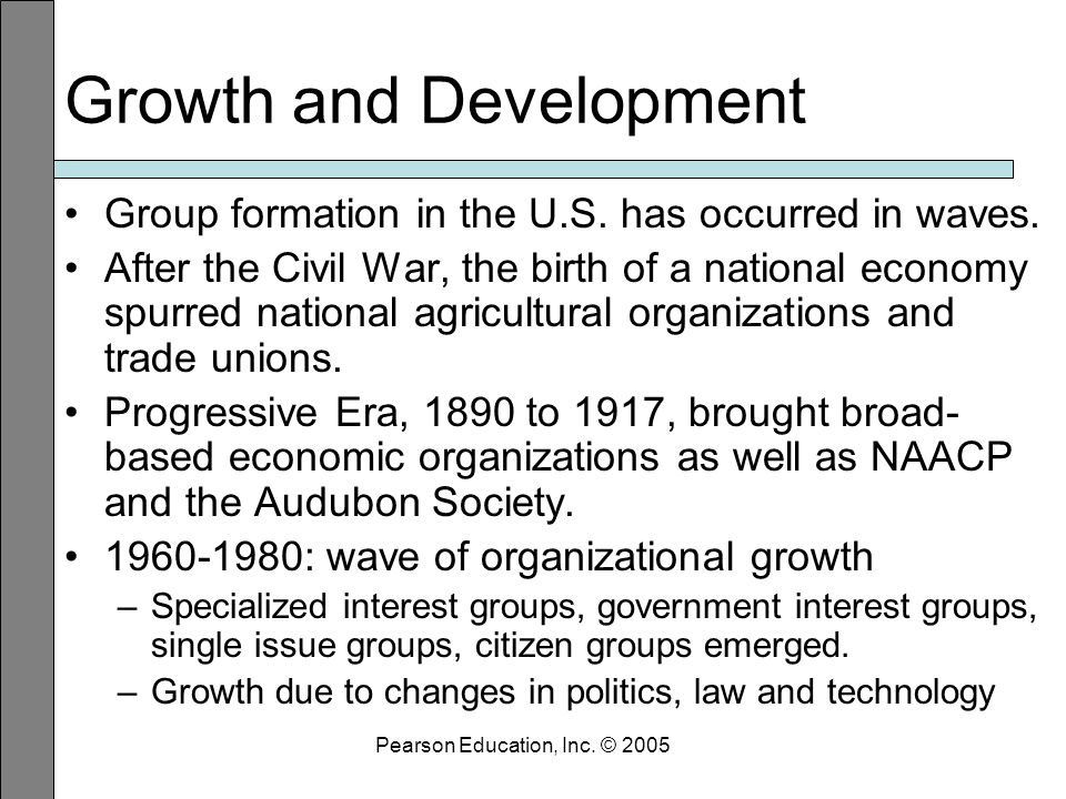 Growth and Development Group formation in the U.S.