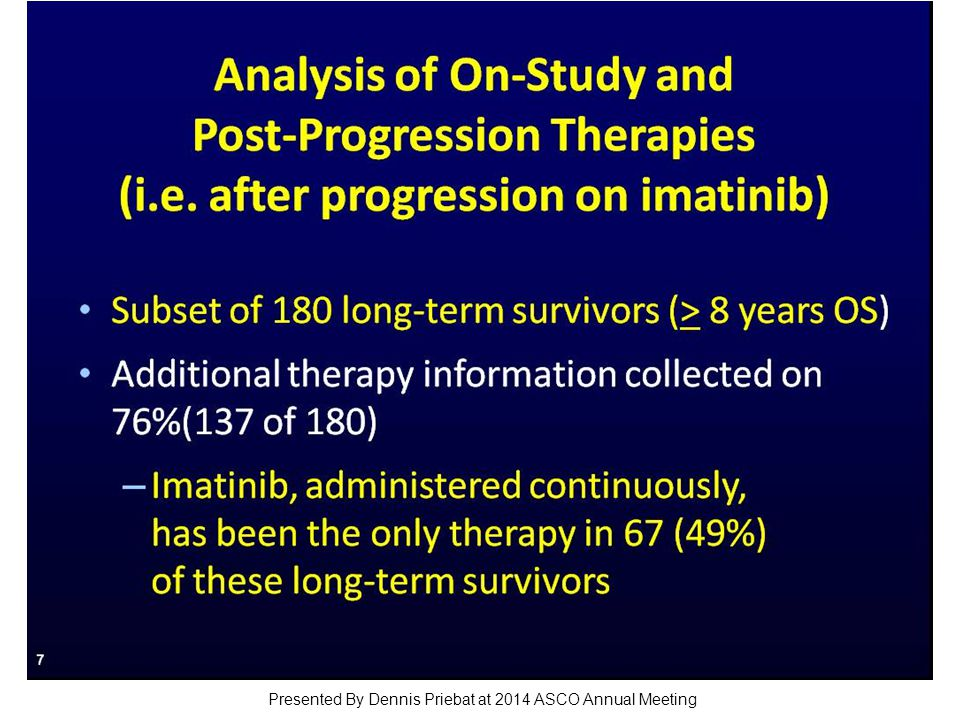 Analysis of On-Study and Post-Progression Therapies (i.e.