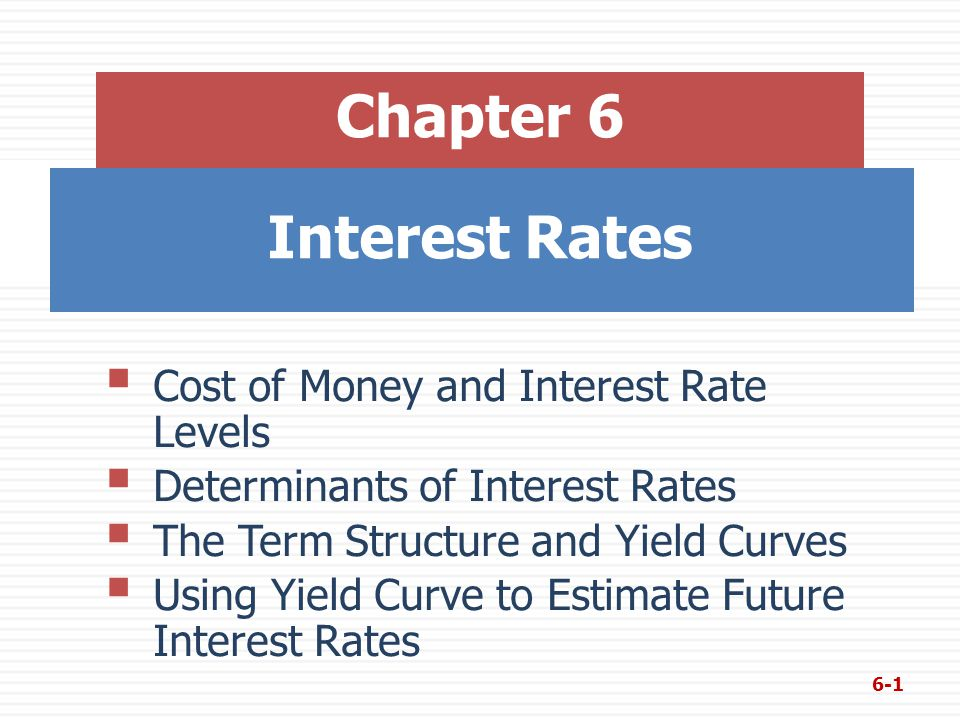 Hypothetical Yield Curve 6-12  An upward sloping yield curve.