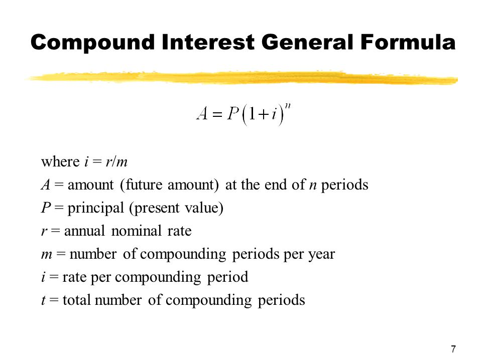 8 Example  Find the amount to which $1500 will grow if compounded quarterly at 6.75% interest for 10 years.