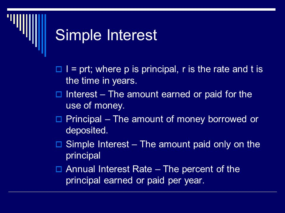 Examples 1.A $1000 bond earns 6% simple annual interest.