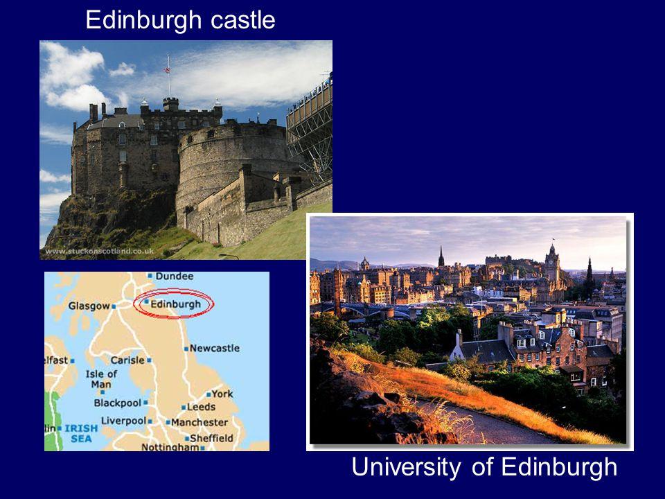 Edinburgh castle University of Edinburgh