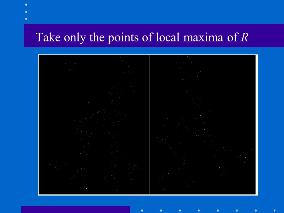 Take only the points of local maxima of R
