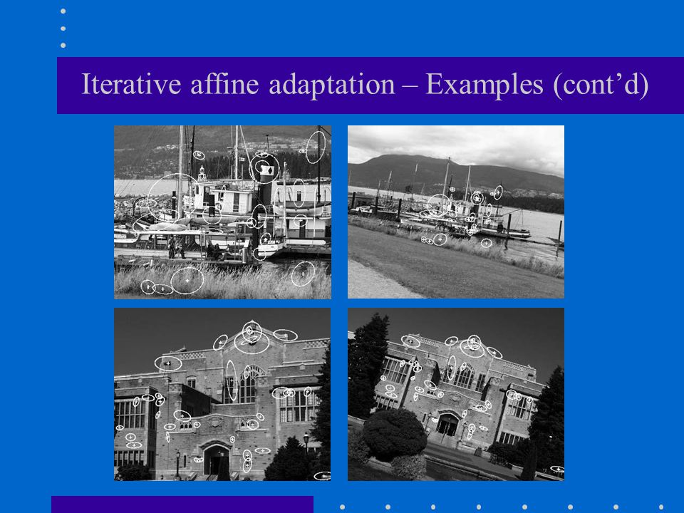 Iterative affine adaptation – Examples (cont'd)