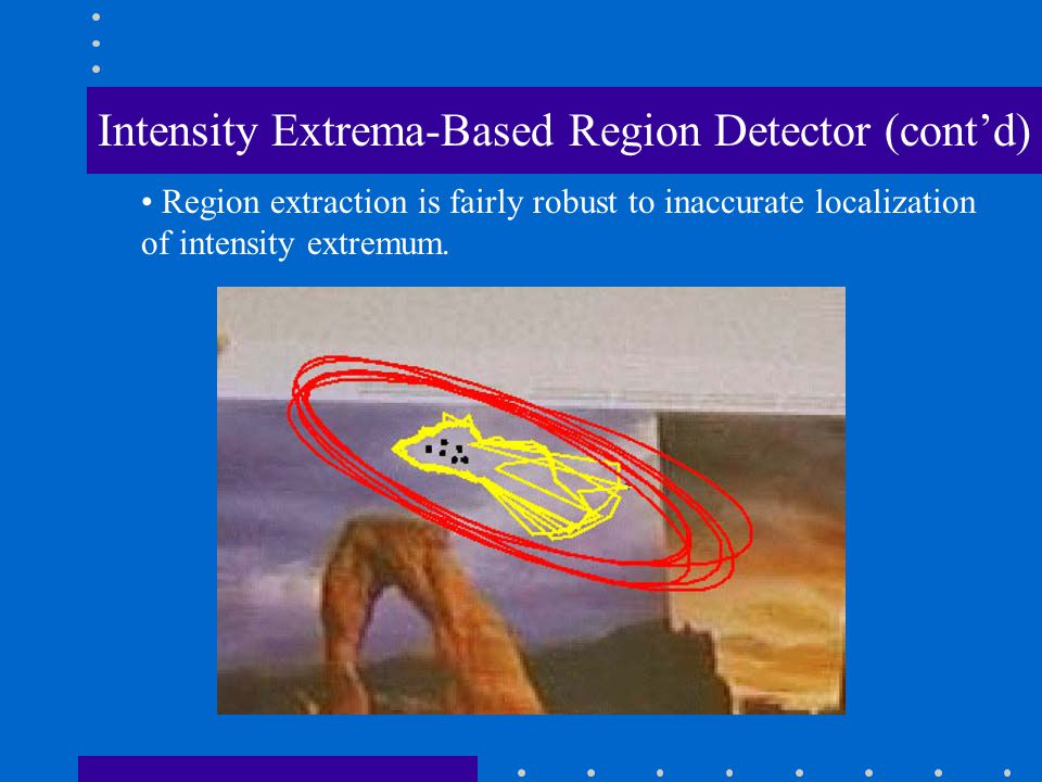 Region extraction is fairly robust to inaccurate localization of intensity extremum.
