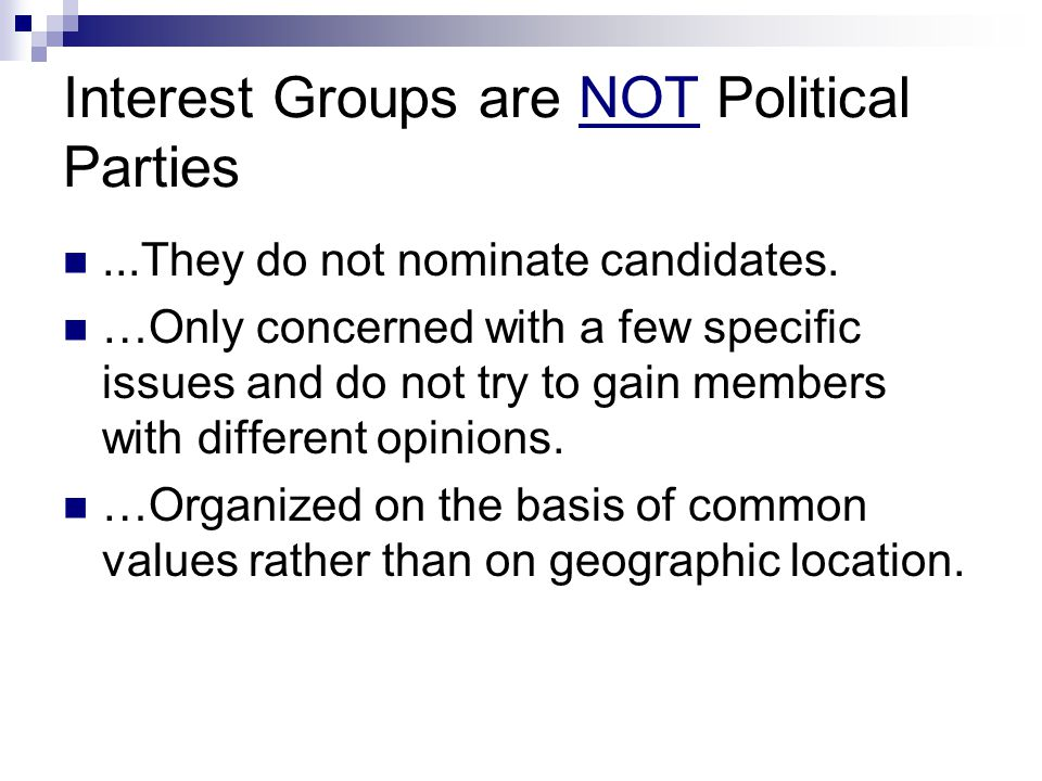 Conclusion Why do we care about interest groups and public opinion.