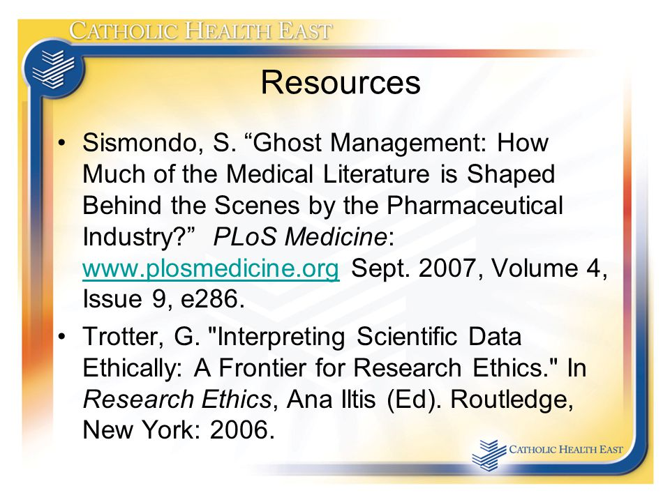 Resources Sismondo, S.